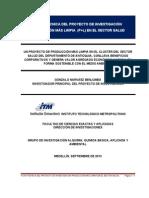(0) Ficha Técnica Proyecto P+L en Salud ITM (GoNaBe_Septiembre_ 2013)