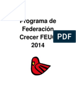 Programa Lista FEUC Crecer 2014