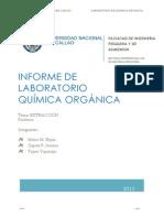 INFORME DE LABORATORIO química organica