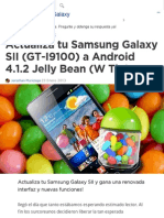 Actualiza Tu Samsung Galaxy SII (GT-I9100) a Android 4.1