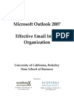Outlook 2007 - Managing Inbox Handout