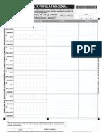 Formulario de recolección de firmas para consulta sobre YASUNÍ-ITT