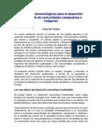 Principios etnoecológicos para el desarrollo sustentable de comunidades campesinas e indígenas