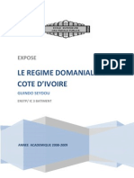 Guindo Seydou - Expose- Regime Domanial Ivoirien