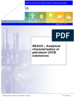 Concawe REACH – Analytical characterisation of petroleum UVCB substances