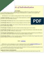 Principle of Individualization
