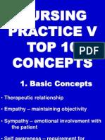 Nursing Practice v - Top 10 Concepts
