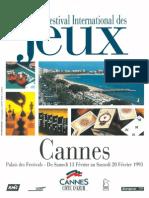 Cannes 1993 Plaquette