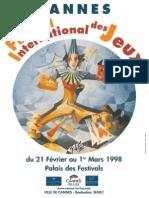 Cannes 1998 Plaquette