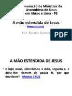 A mão estendida de Jesus