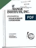 Standart Steam Surface Condenser