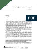 Google Case Study 2007