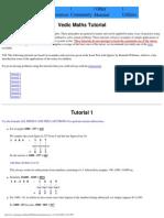 mathematics using the vedic mehtod for beginers