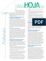 Asbestos Factsheet Spanish