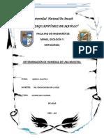 DETERMINACIÓN DE HUMEDAD DE UNA MUESTRA
