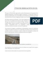 LOS PROYECTOS DE IRRIGACIÓN EN EL PERÚ