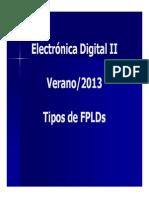 Tipos de FPLDs y Tecnologia