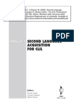 SLA for CLIL by Naves Munoz Pavesi 2002