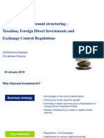 Foreign Direct Investments and Exchange Control Regulations