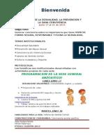 Programacion Semana Sexualidad General Anzoategui 2013