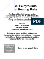 Flyer for Rally 2