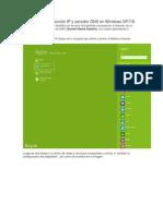 Como cambiar dirección IP y servidor DNS en Windows XP