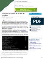 Recupere as senhas de usuário do Windows (Matérias)