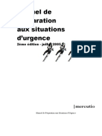 Manuel de Preparation Aux Situations d'Urgence