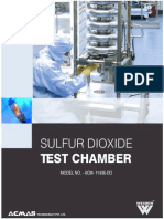 Sulfur Dioxide Test Chamber