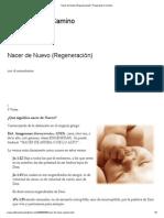 REGENERACIÓN - NACER DE NUEVO