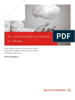 BAIN BRIEF the Cloud Reshapes the Business of Software