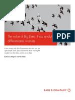 BAIN BRIEF the Value of Big Data
