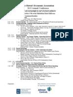 2013 conference program with descrip