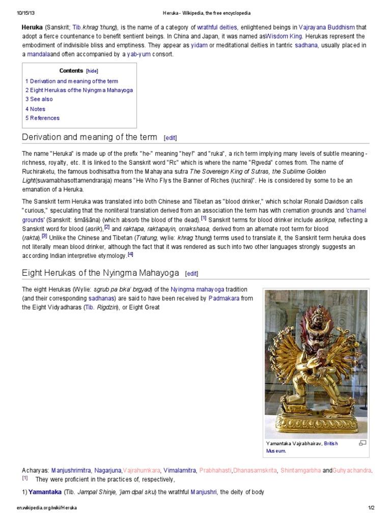 Heruka | Himalayan Buddhism | Religious Philosophical Concepts