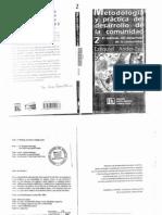 Metodología y práctica del desarrollo de la comunidad