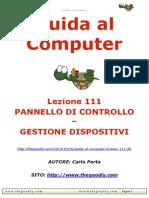 Guida al Computer - Lezione 111 - Pannello di Controllo - Gestione Dispositivi