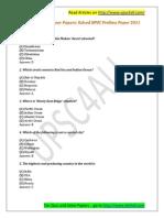 BPSC Prelims 2011 Paper