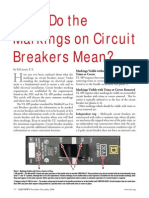 Circuit Breaker Markings