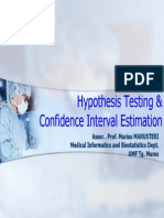 Hypothesis Testing & Confidence Interval Estimation