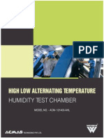 High Low Alternating Temperature Humidity Test Chamber