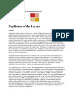 Papillomas of the Larynx