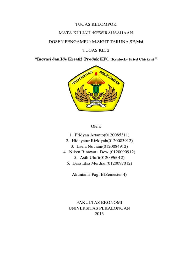 Tugas Kelompok Kwh Kfc