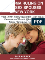 The DOMA Ruling on Same Sex Spouses in New York