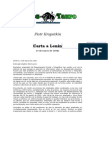 Kropotkin, Piotr - Cartas a Lenin