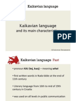 Kaikavian Language and Its Main Characteristics