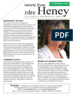 Deirdre Heney Newsletter Winter 2013