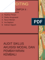 Audit Atas Siklus Perolehan Dan Pembayaran Kembali Modal. Powerpoint