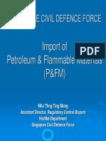 SCDF's Import of Petroleum & Flammable Materials (P&FM)