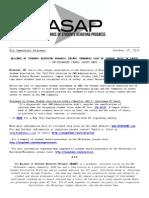 ASAP Press Release 10-17-13
