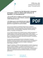 Nota de Prensa de Mª del Carmen Dueñas.